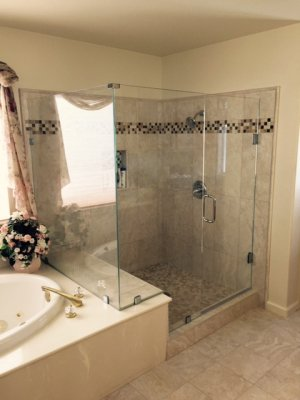 44848 Heavy Duty Jose Shower Doors San Jose Glass Services Mesmerizing Bathroom Remodel San Jose Creative